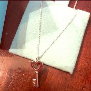 Tiffany and co key heart necklace